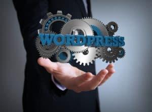 wordpress gears businessman