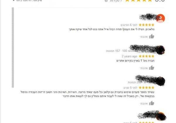 ביקורות גוגל
